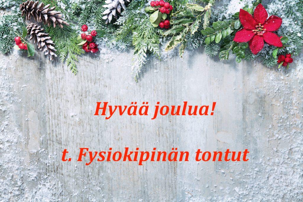 Fysiokipinä joulu